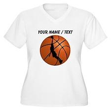 Custom Basketball Dunk Silhouette Plus Size T-Shir