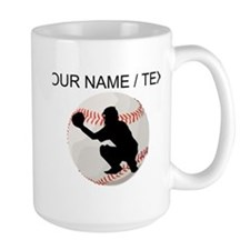 Custom Baseball Catcher Silhouette Mugs