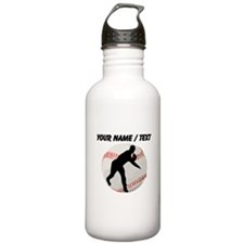 Custom Baseball Pitcher Silhouette Sports Water Bo