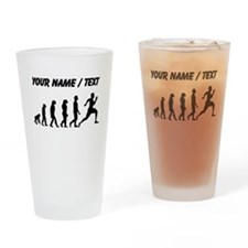 Custom Running Evolution Drinking Glass