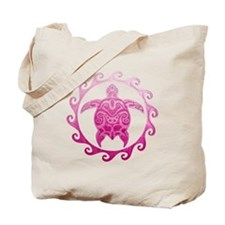 Pink Turtle Sun Tote Bag