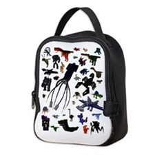 Collage Neoprene Lunch Bag