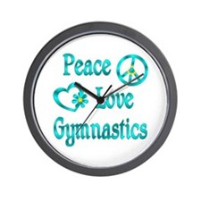 Peace Love Gymnastics Wall Clock