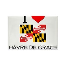 I Love Havre De Grace Maryland Magnets