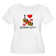 I Love Ocean City Maryland Plus Size T-Shirt