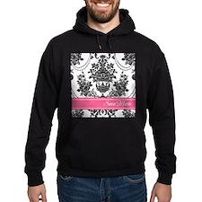 Damask Pink Stripe Hoodie