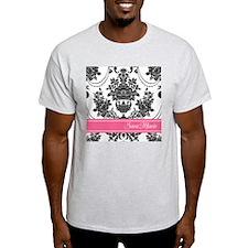 Damask Pink Stripe T-Shirt