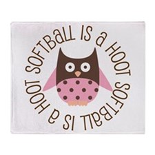 Softball Is A Hoot Throw Blanket