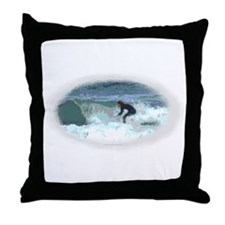 Peter Max style Surfer Throw Pillow
