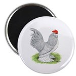 Self Blue Rooster Magnet