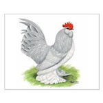 Self Blue Rooster Small Poster