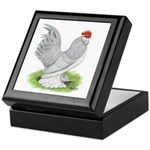 Self Blue Rooster Keepsake Box