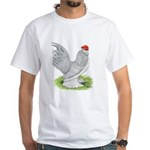 Self Blue Rooster White T-Shirt
