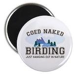 Coed Naked Birding Magnet
