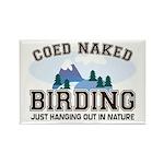Coed Naked Birding Rectangle Magnet