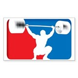WEIGHTLIFTING Rectangle Decal