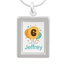 Personalized 6th Birthday Balloons Necklaces