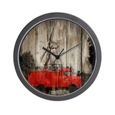 farm truck windmill Wall Clock