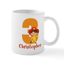 Personalized 3rd Birthday Fireman Mugs