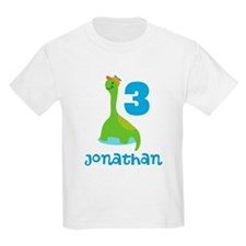 3rd Birthday Dinosaur Personalized T-Shirt