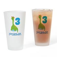 3rd Birthday Dinosaur Personalized Drinking Glass