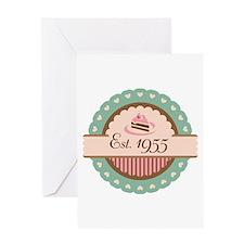 1955 Birth Year Birthday Greeting Card