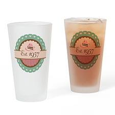 1957 Birth Year Birthday Drinking Glass