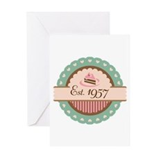 1957 Birth Year Birthday Greeting Card