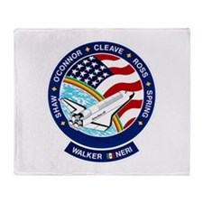 STS 61B Atlantis Throw Blanket