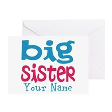 Personalized Big Sister Greeting Card