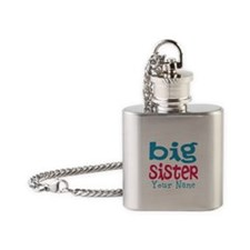 Personalized Big Sister Flask Necklace