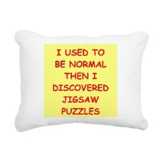 jigsaw puzzle Rectangular Canvas Pillow