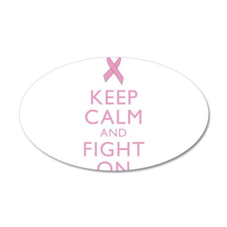 Keep Calm Breast Cancer Support Awareness Wall Dec