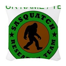 Custom Sasquatch Research Team Woven Throw Pillow