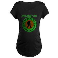 Custom Sasquatch Research Team Maternity T-Shirt