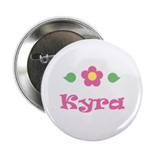 "Pink Daisy - ""Kyra"" Button"