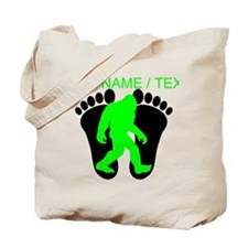 Custom Bigfoot Footprint Tote Bag