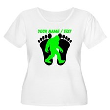 Custom Bigfoot Footprint Plus Size T-Shirt