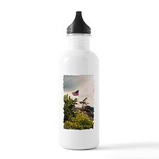 Flag Over Chimney Rock Water Bottle