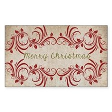 Merry Christmas Flourish Decal