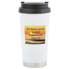 MATTHEW 19:26 Ceramic Travel Mug