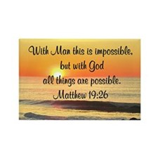 MATTHEW 19:26 Rectangle Magnet (100 pack)