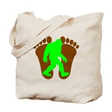 Neon Green Bigfoot Tote Bag