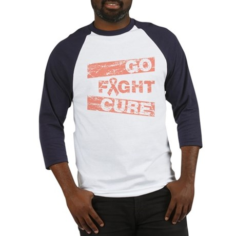 Uterine Cancer Go Fight Cure Baseball Jersey