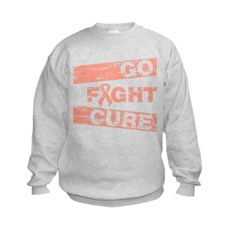 Uterine Cancer Go Fight Cure Kids Sweatshirt