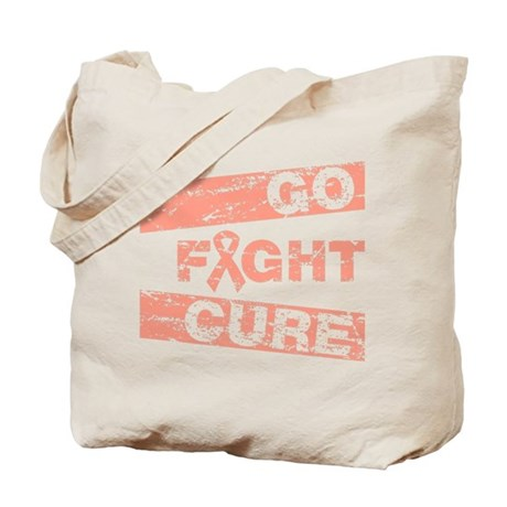 Uterine Cancer Go Fight Cure Tote Bag
