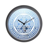 Buddhist Symbol Wall Clock
