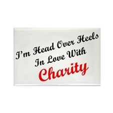 In Love with Charity Rectangle Magnet (100 pack)