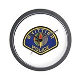 Whittier Police Wall Clock