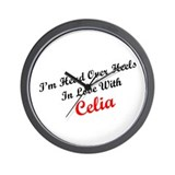 In Love with Celia Wall Clock